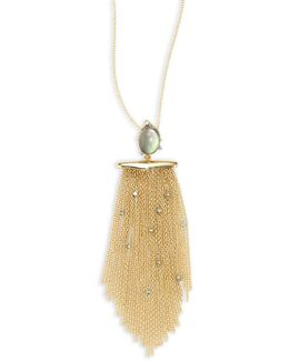Elements Crystal-studded Tassel Pendant Necklace