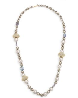 Elements Crystal Station Faux-pearl Necklace/26