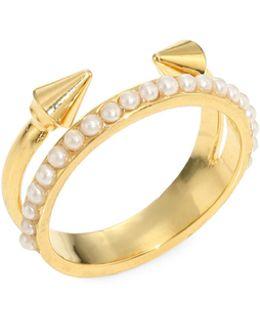 Ultra Mini Titan Pearl Ring
