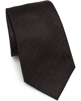 Silk Chevron Pattern Tie