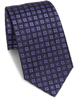 Uniform Square Patterned Tie