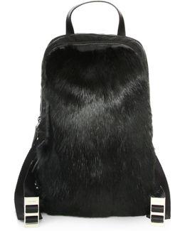 Fur-trim Nylon Backpack