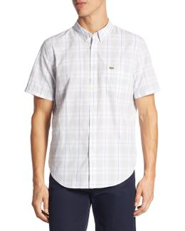 Short-sleeve Checkered Shirt