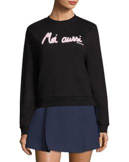 Moi Aussi Graphic Sweatshirt