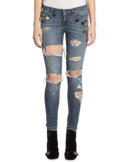 Embellished Denim Jeans