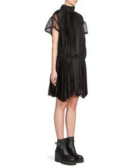Satin Mockneck Dress