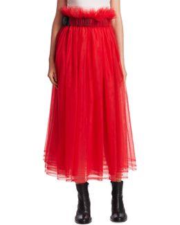 Gathered Tulle Skirt