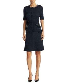 Short Sleeve Tailored Sheath Dress