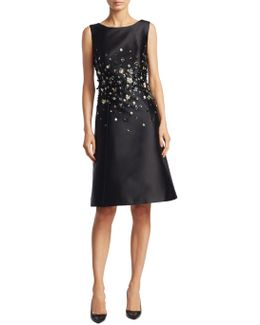 Beaded A-line Cocktail Dress