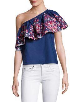 Reba One-shoulder Cotton Top