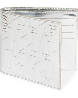 Metallic Leather Billfold Wallet