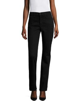 Marilyn Embroidered Straight-leg Jeans