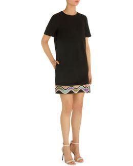 Short Sleeve Belted Dress