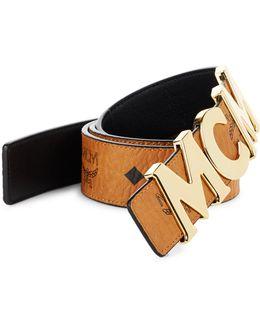 Letter Leather Belt