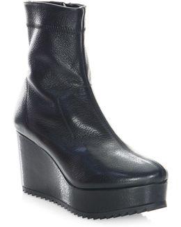 Urika Wedge Leather Bootie