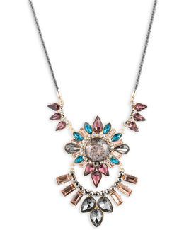 Make Me Blush Crystal Pendant Necklace