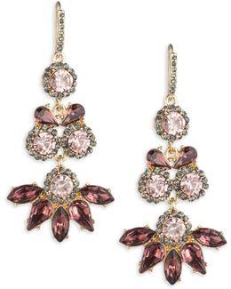 Make Me Blush Triple-drop Crystal Earrings