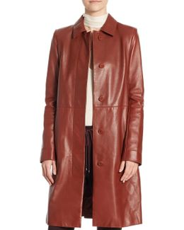 Mod Leather Trench Coat