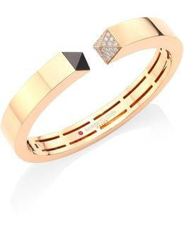 Prive Pyramid Pave Diamond & 18k Rose Gold Bangle