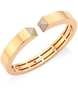 Diamond & 18k Rose Gold Bangle