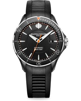 Clifton Club 10339 Stainless Steel & Rubber Strap Watch