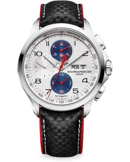 Clifton Club Shelby Cobra 10342 Stainless Steel & Leather Strap Watch
