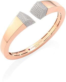 Prive Pave Diamond & 18k Rose Gold Bangle