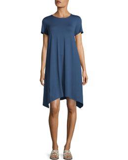 Roundneck Denim Dress
