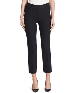 Slim Textured Stretch Wool Trousers