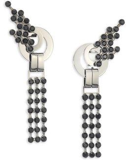 Rhinestone Triple Drop Earrings
