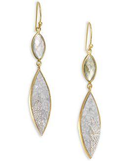 Rani Sukanya Sliced Raw Diamond & Labradorite Drop Earrings