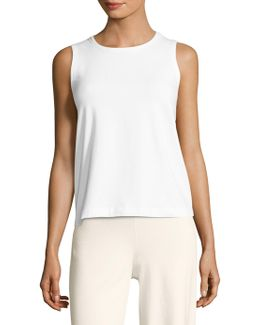 Solid Cotton Tank Top