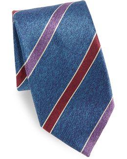 Wide Stripe Silk Tie