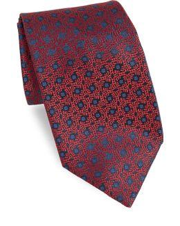 Shattered Glass Medallion Silk Tie