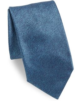 Plain Long Silk Tie