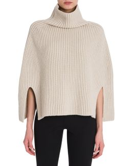 Wool & Cashmere Cape Sweater