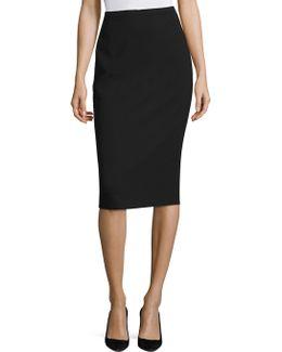 Orca Wool Bistretch Pencil Skirt