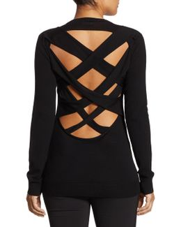 Liva Lattice Back Wool Sweater