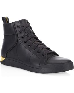Tempus Leather High-top Sneakers
