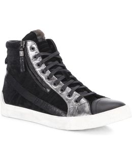 Velows Leather & Suede High-top Sneakers