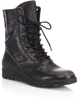 Leather Mid-calf Boots