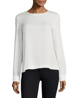 Alida Silk Jersey Top