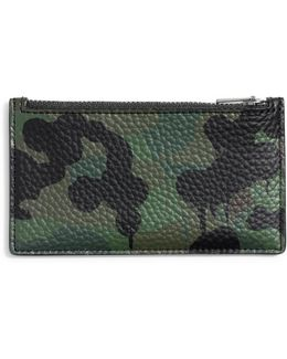 Wild Beast Zip Military Leather Card Case