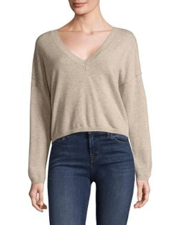 Josey Cashmere Cropped Sweater