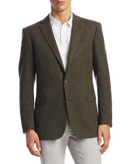 Connery Slim-fit Herringbone Jacket