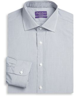 Purple Label Aston Slim-fit Grid Check Dress Shirt