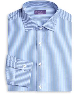 Slim-fit Bond Barrel Stripe Dress Shirt