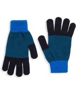 Knit Wool Colorful Gloves