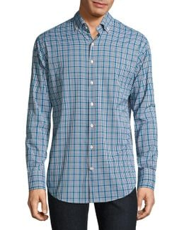 Plaid Casual Button-down Shirt