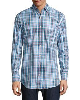 Chateau Plaid Casual Button-down Shirt